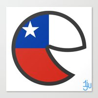 chile Canvas Prints featuring Chile Smile by onejyoo