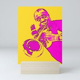 Society6 100 Elements Of Louis - Louie - Daniel Armstrong Satchmo - Satch - Pops - Pop Sketch-Art 2 Mini Art Print