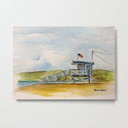 Santa Monica Beach - Lifeguard Tower #8 Metal Print