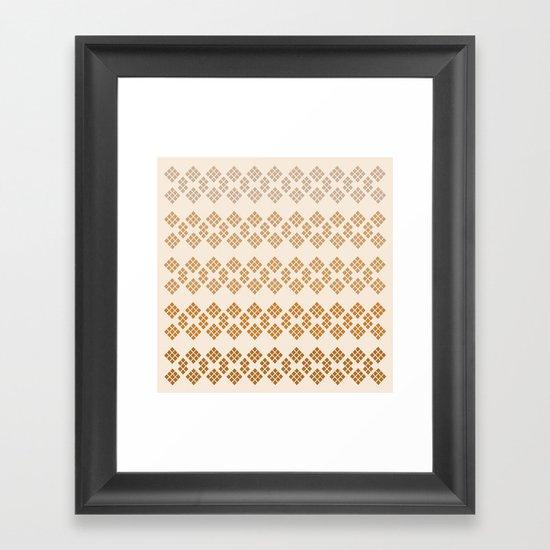 Gold Diamonds Framed Art Print
