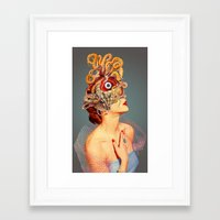 freud Framed Art Prints featuring Freud vs Jung by Eugenia Loli