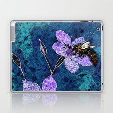 Bee on Linseed Flowers Laptop & iPad Skin