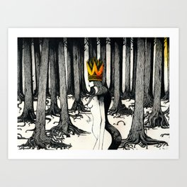 The Mad Queen. Art Print