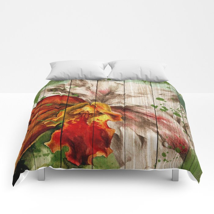 Spring on Wood 02 Comforters