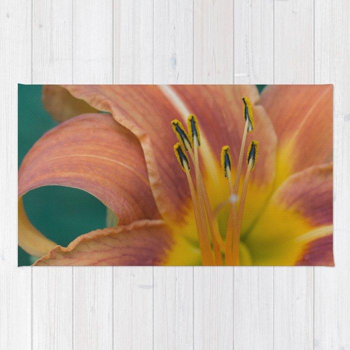 Orange Daylily aka Tiger Lily Rug
