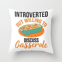 Eat Sleep Casserole Repeat Casserole Lover Throw Pillow
