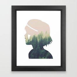 Princess Mononoke Silhouette Framed Art Print