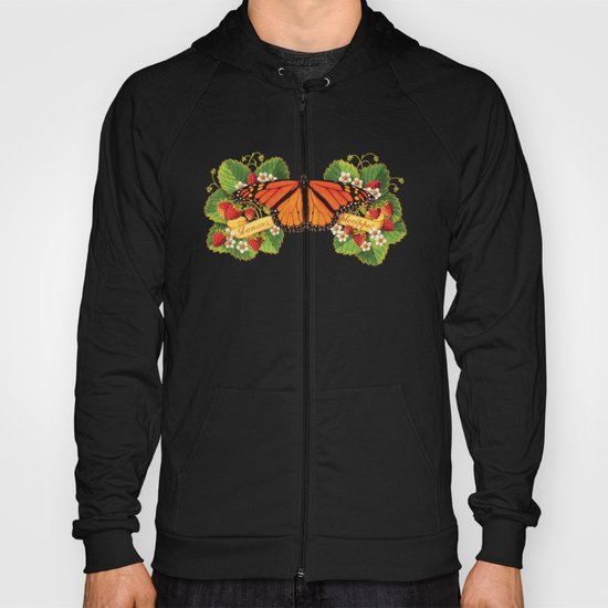 Monarch Butterfly with Strawberries Hoody