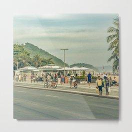Copacabana Sidewalk Rio de Janeiro Brazil Metal Print