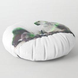 Arctic Polar Bear Family Floor Pillow