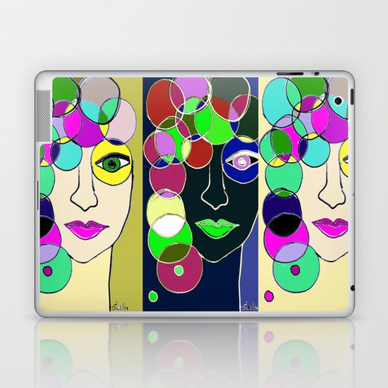 Different sides of Me Laptop & iPad Skin