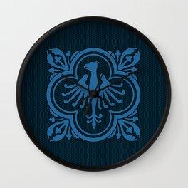 Phoenix - Deep Ocean Blue Wall Clock