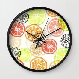 Lemon Slices Wall Clock