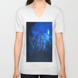 blue village Unisex V-Neck