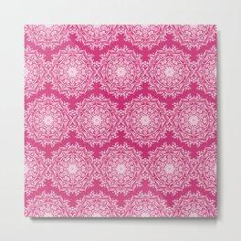 Lotus II Bold Pink Metal Print