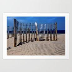 The Beach Fence Art Print