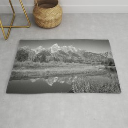 Snow Capped Mountains and a Reflection Rug