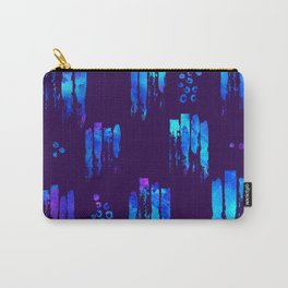Blue watercolor brush on dark Carry-All Pouch
