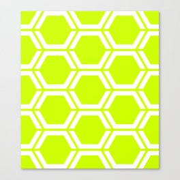 Volt - green - Geometric Polygon Pattern Canvas Print