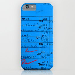 Library Card 23322 Blue iPhone Case