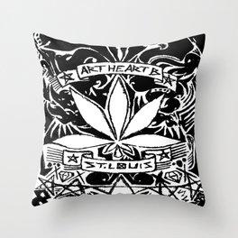 Weed & Diamonds Throw Pillow