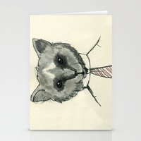 mr fox Stationery Cards featuring Mr. Fox by Shiroshi