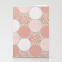 rose gold Stationery Cards featuring Rose Gold Dots by Georgiana Paraschiv