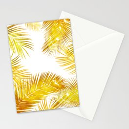natural gold, tropical Stationery Cards