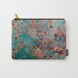 Marble Turquoise Blue Carry-All Pouch