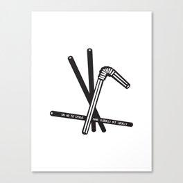 Straw Wars Canvas Print