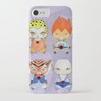thundercats iPhone & iPod Cases featuring A Boy - A Girl - Thundercats by Christophe Chiozzi