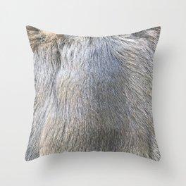 Rabbit Fur Throw Pillow
