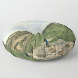 The Hill of Montmartre with Stone Quarry by Vincent van Gogh Floor Pillow