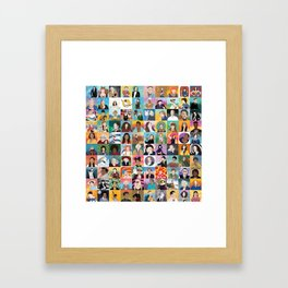 100 Boss Babes Framed Art Print