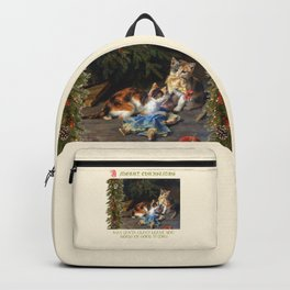 CHRISTMAS GREETINGS for Naughty Cats Backpack