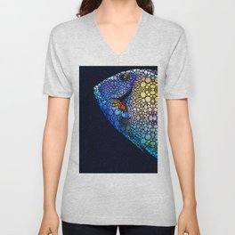 Tropical Fish Art 6 - Painting by Sharon Cummings Unisex V-Neck