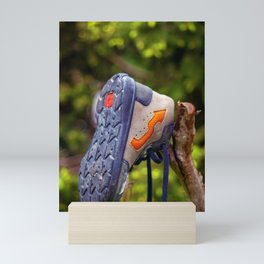 The lonely and lost shoe Mini Art Print