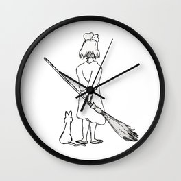 Believe in Yourself (Kiki) - Sketch Wall Clock
