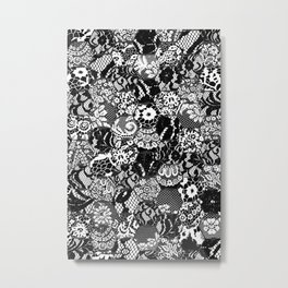 gothic lace Metal Print