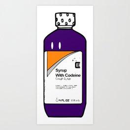 Codeine Bottle Cartoon Art Print
