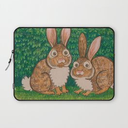 Rabbits in the Bushes Laptop Sleeve