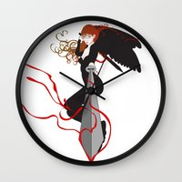justice Wall Clocks featuring Justice by Stevyn Llewellyn
