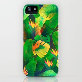 Tropical Leaves 13 iPhone Case