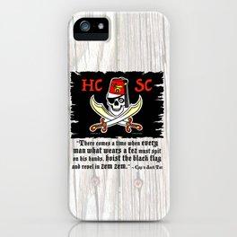 HCSC Jolly Roger & Cap'n Jack Tar Quote iPhone Case