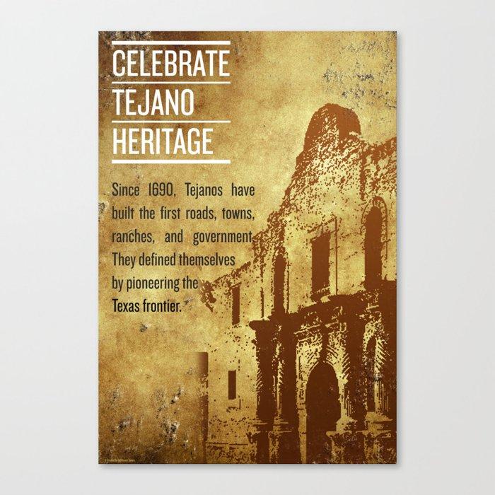 Tejano Heritage Poster Canvas Print