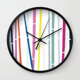 Rainbow Bamboo Wall Clock