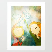friendship Art Prints featuring Friendship by Tatiana Obukhovich