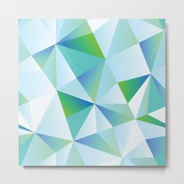 Ice Shards abstract geometric angles pattern Metal Print