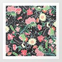 Pastel preppy hand drawn garden flowers chalkboard by girlytrend