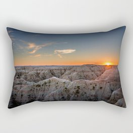 South Dakota Sunset - Dusk in the Badlands Rectangular Pillow